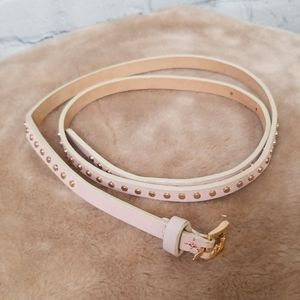 J.Crew pink studded leather belt